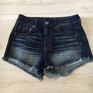 America Eagle high rise cut off  jean shorts